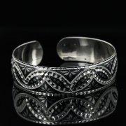 Серебряный кубачинский браслет с чернением арт.11141