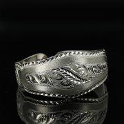 Серебряный кубачинский браслет с гравировкой арт.11142