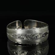 Серебряный кубачинский браслет с гравировкой арт.11143
