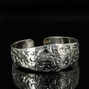 Серебряный кубачинский браслет с гравировкой арт.11144