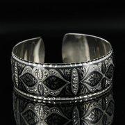 Серебряный кубачинский браслет с чернением арт.11145