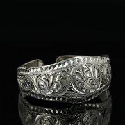 Серебряный кубачинский браслет с гравировкой арт.11147