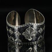 Серебряный кубачинский браслет с чернением арт.11148