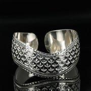 Серебряный кубачинский браслет с чернением арт.11153