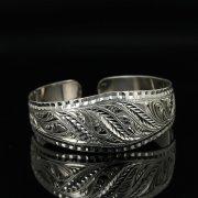 Серебряный кубачинский браслет с гравировкой арт.11154