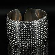 Серебряный кубачинский браслет с чернением арт.11157