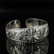 Серебряный кубачинский браслет с гравировкой арт.11158