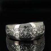 Серебряный кубачинский браслет с гравировкой арт.11162