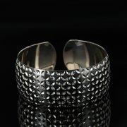 Серебряный кубачинский браслет с чернением арт.11163