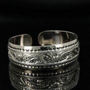 Серебряный кубачинский браслет с гравировкой арт.11166
