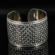 Серебряный кубачинский браслет с чернением арт.11170