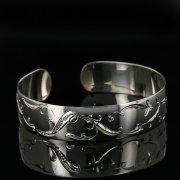 Серебряный кубачинский браслет с гравировкой арт.11171