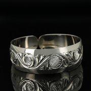 Серебряный кубачинский браслет с гравировкой арт.11172