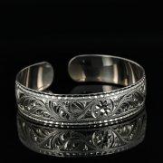 Серебряный кубачинский браслет с гравировкой арт.11173