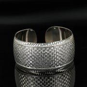 Серебряный кубачинский браслет с гравировкой арт.11174