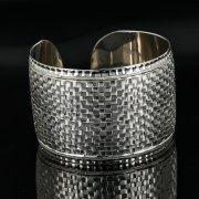 Серебряный кубачинский браслет с гравировкой арт.11175