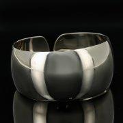 Серебряный кубачинский браслет белый арт.11176