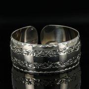 Серебряный кубачинский браслет с гравировкой арт.11177