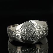 Серебряный кубачинский браслет с гравировкой арт.11181