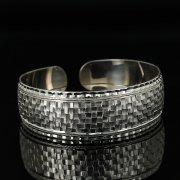 Серебряный кубачинский браслет с гравировкой арт.11182