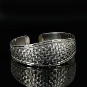 Серебряный кубачинский браслет с гравировкой арт.11183