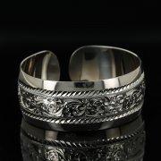 Серебряный кубачинский браслет с гравировкой арт.11186