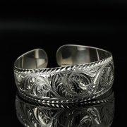 Серебряный кубачинский браслет с гравировкой арт.11187