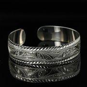 Серебряный кубачинский браслет с гравировкой арт.11189