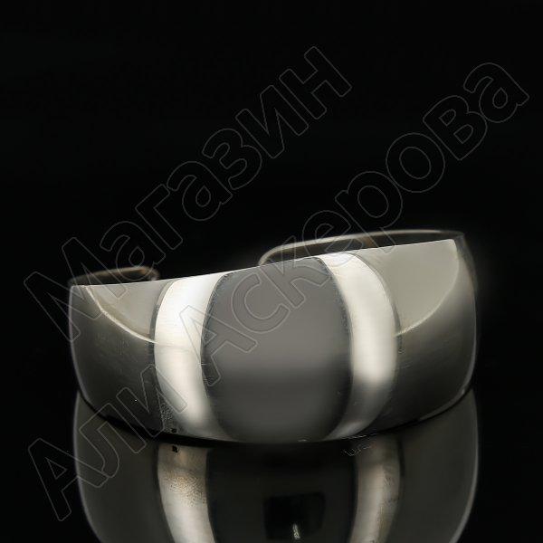 Серебряный кубачинский браслет белый арт.11190