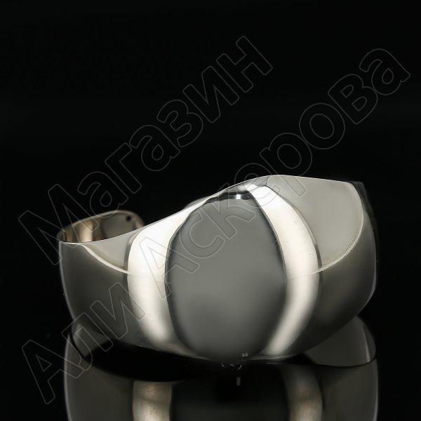 Серебряный кубачинский браслет белый арт.11192