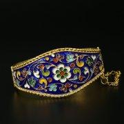 Серебряный кубачинский браслет с эмалью арт.9708