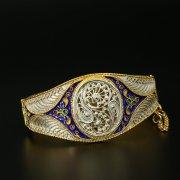 Серебряный кубачинский браслет с филигранью арт.9709