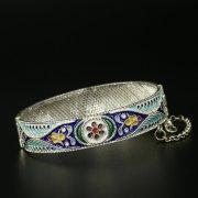 Серебряный кубачинский браслет с филигранью арт.9712