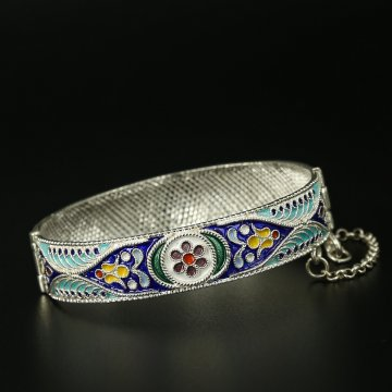 Серебряный кубачинский браслет с филигранью