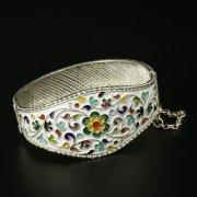 Серебряный кубачинский браслет с эмалью арт.9713