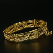 Серебряный кубачинский браслет с филигранью ручной работы арт.9769
