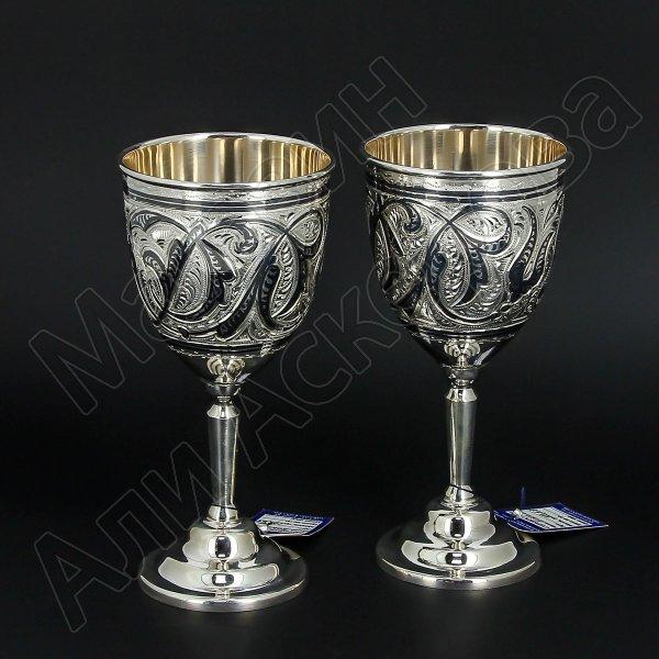 Серебряные бокалы Кубачи ручной работы (2 персоны)