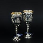 Серебряные рюмки Кубачи ручной работы (2 персоны) арт.5875