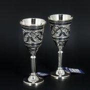 Серебряные рюмки Кубачи ручной работы (2 персоны) арт.5876