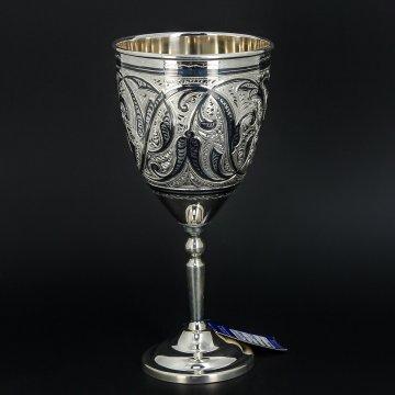Серебряный бокал Кубачи ручной работы