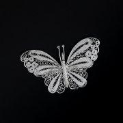 Серебряная брошь-подвеска Бабочка