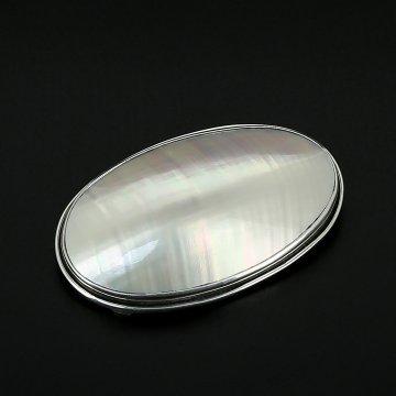 Серебряная брошь-подвеска авторская работа (перламутр)
