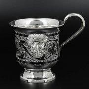 Серебряная чашка Кубачи ручной работы арт.10223