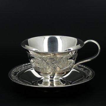 Серебряная кофейная пара (90 мл)
