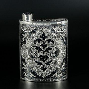 Серебряная фляга (исполнение люкс)