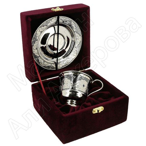 Серебряная кофейная пара (130 мл)