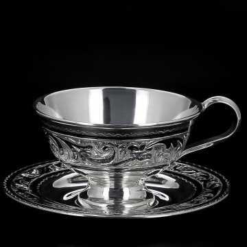 Серебряная кофейная пара (110 мл)