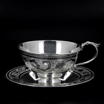 Серебряная чайная пара (130 мл)
