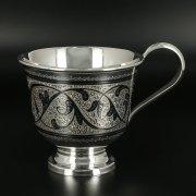 Серебряная кружка Кубачи ручной работы арт.10815