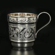 Серебряная кружка Кубачи ручной работы арт.11630